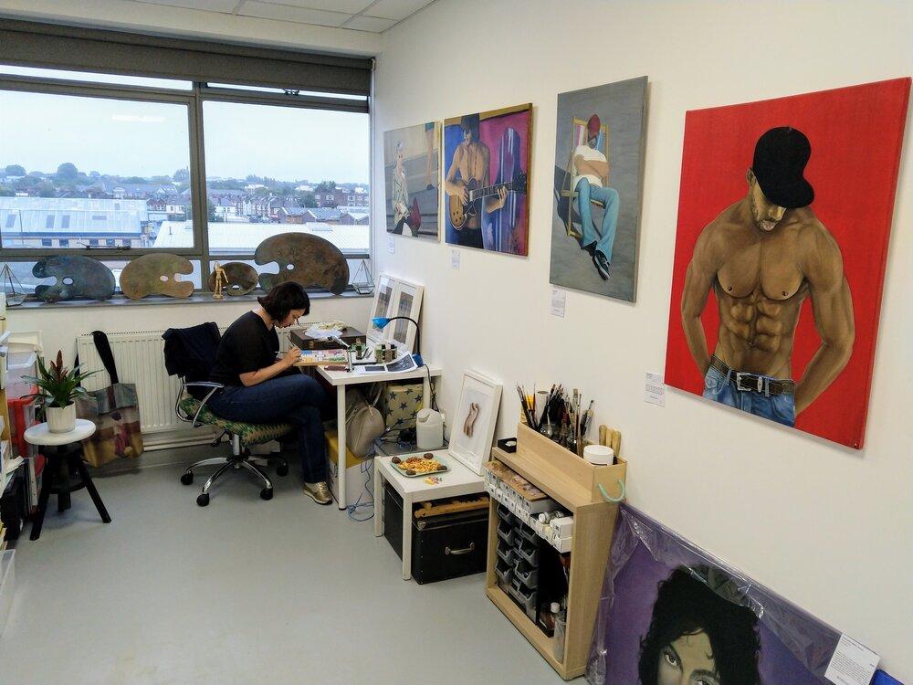 To contact: Studio 16, Delta House Studios. Riverside Road, London SW17 0BA