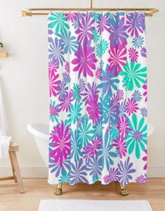 Flower power II Shower Curtain