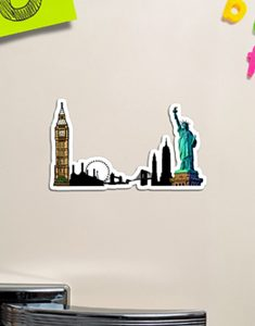 London & New York City Magnet