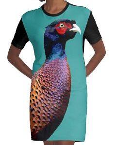Pheasant Graphic T-Shirt Dress