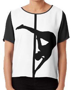 pole dance chiffon top