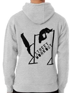 street workout pullover hoodie