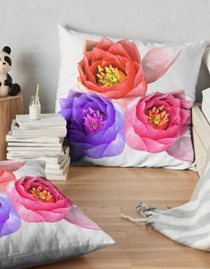 Water lilies Floor Pillow